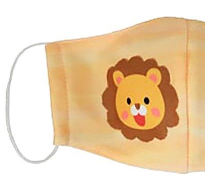子供マスク 布製 送料無料 ライオン イエロー 【画像2】