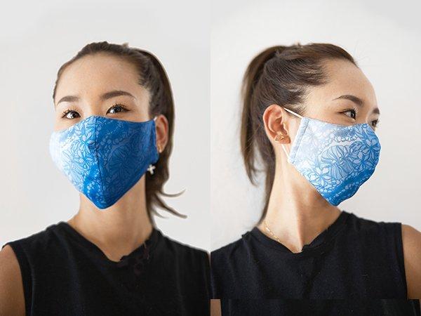 マスク 布製 送料無料 ハワイアングラデーション ブルー 【画像6】