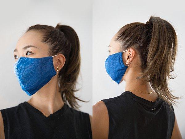 マスク 布製 送料無料 ハワイアングラデーション ブルー 【画像7】