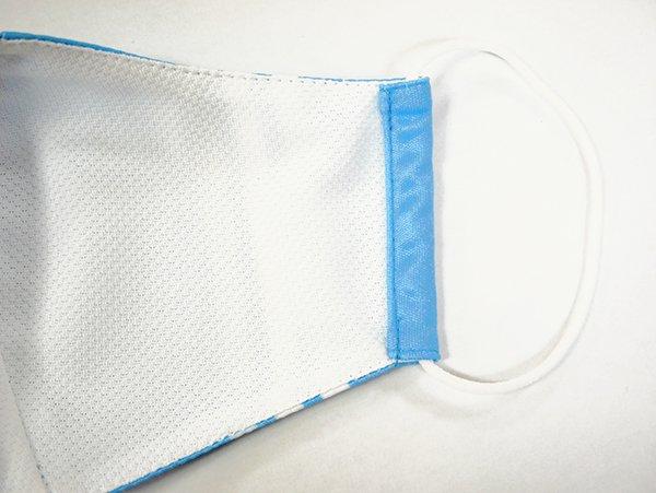 マスク 布製 送料無料 ライン ブルー【画像3】