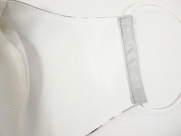 マスク 布製 送料無料 ライン グレー【画像3】