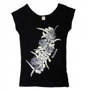 Tシャツ TUTUVI Tシャツ(柄:ハクレイ 色:ブラック・アイボリー)