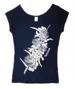 Tシャツ TUTUVI Tシャツ(柄:ハクレイ 色:ネイビー・アイボリー)