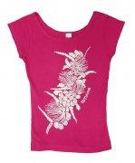 Tシャツ TUTUVI Tシャツ(柄:ハクレイ 色:ピンク・アイボリー)