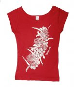 Tシャツ TUTUVI Tシャツ(柄:ハクレイ 色:レッド・アイボリー)