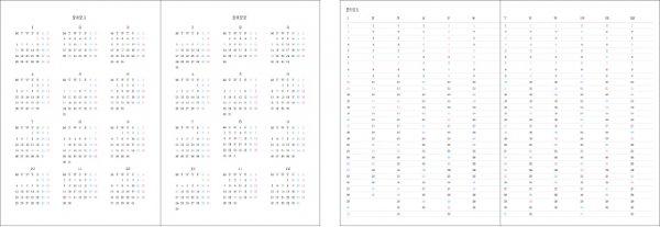 2021 ハワイ手帳 ミニサイズ TUTUVIバージョン レフアタパ レッド(リバーシブル表紙 ファーン)【画像3】