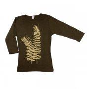 Tシャツ TUTUVI 七分袖Tシャツ(柄:ファーン 色:ブラウン・ベージュ)