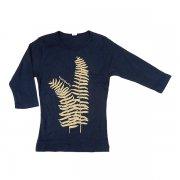 Tシャツ TUTUVI 七分袖Tシャツ(柄:ファーン 色:ネイビー・ベージュ)