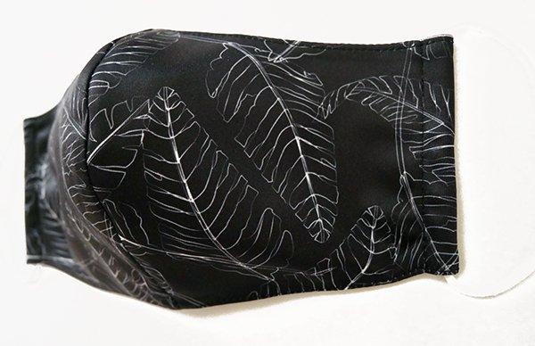 マスク 布製 送料無料 リコ ブラック【画像2】
