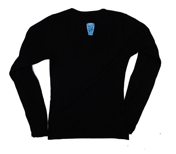 TUTUVI 長袖Tシャツ(柄:トーチジンジャー 色:ブラック・ブルー)【画像2】