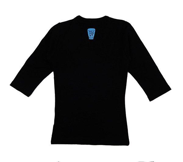 TUTUVI 七分袖Tシャツ(柄:トーチジンジャー 色:ブラック・ブルー)【画像2】