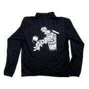 フラダンス用品 色で選びたい TUTUVI ドライジッパージャケット(柄:サウンドアンドヴィジョン 色:ブラック・ホワイト)