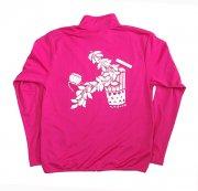 フラダンス用品 色で選びたい TUTUVI ドライジッパージャケット(柄:サウンドアンドヴィジョン 色:ホットピンク・ホワイト)