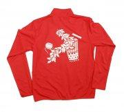 フラダンス用品 色で選びたい TUTUVI ドライジッパージャケット(柄:サウンドアンドヴィジョン 色:レッド・ホワイト)