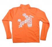 オレンジ TUTUVI ドライジッパージャケット(柄:サウンドアンドヴィジョン 色:オレンジ・ホワイト)