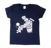 TUTUVI TUTUVI Tシャツ(柄:サウンドアンドヴィジョン 色:ネイビー・アイボリー)