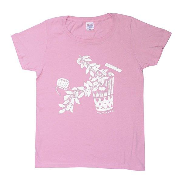 TUTUVI Tシャツ(柄:サウンドアンドヴィジョン 色:ピーチ・アイボリー)