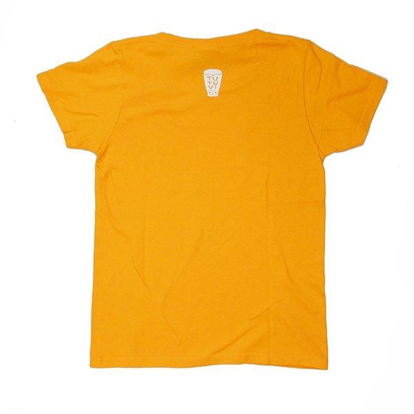 TUTUVI Tシャツ(柄:サウンドアンドヴィジョン 色:ゴールドイエロー・アイボリー)【画像3】