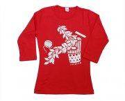 TUTUVI TUTUVI 七分袖Tシャツ(柄:サウンドアンドヴィジョン 色:レッド・アイボリー)