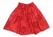 ケイキ(子供用) ケイキパウ 子供用 ハワイアンファブリック 赤地模様 ハイビスカス柄  丈45cm 生地2m 身長100〜110cmぐらい