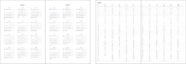 2022 ハワイ手帳 ミニ TUTUVIバージョン トーチジンジャー アッシュ(リバーシブル表紙 ラウアエ)【画像3】
