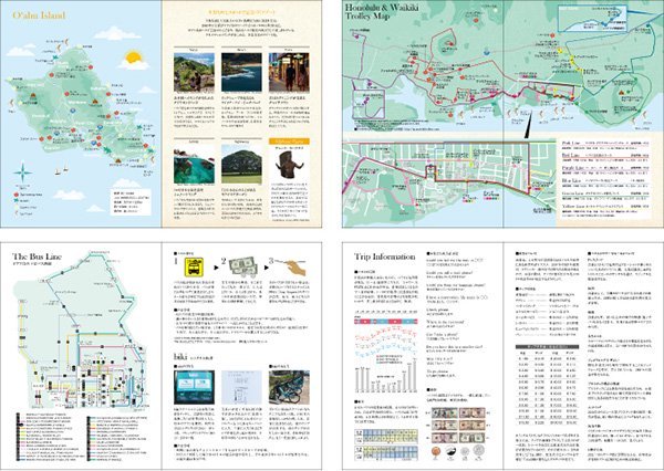 2022 ハワイ手帳 ミニ TUTUVIバージョン レフア レッド(リバーシブル表紙 フムフム)【画像6】