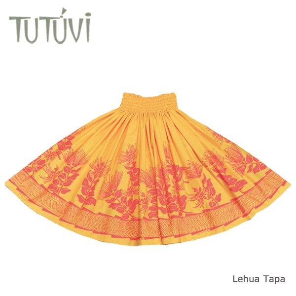 TUTUVIパウ(柄:レフアタパ/色:ゴールドイエロー・コーラルピンク)【画像3】