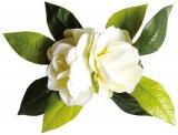 ホワイト(白) ダブルガーデニア ヘアクリップ ホワイト
