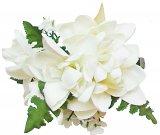 ホワイト(白) チューブローズ ヘアクリップ ホワイト