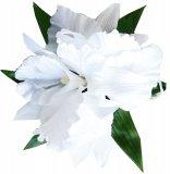 ホワイト(白) ラージ カトレアオーキッドL ヘアクリップ ホワイト
