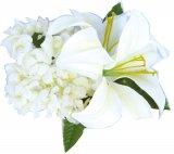 ホワイト(白) リリーピカケ ヘアクリップ ホワイト