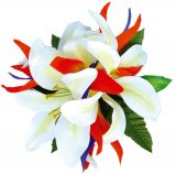 ホワイト(白) リリーバードオブパラダイス ヘアクリップ ホワイト