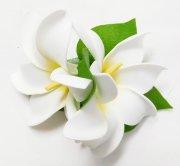 ホワイト(白) コロヘダブルティアレ ヘアクリップ 白 中黄