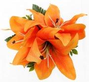 オレンジ アレンジ ヘアクリップ No.1051
