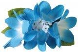 ブルー(青) Eプルメリア ヘアクリップ ブルー