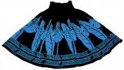 ブラック(黒) TUTUVIパウ(柄:トーチジンジャー/色:ブラック・ブルー)