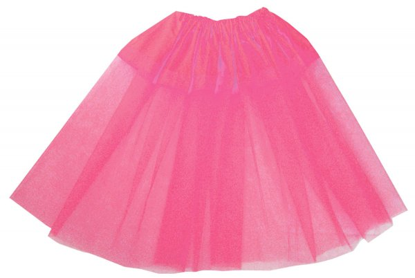カラーナイロンチュールペチコート ピンク