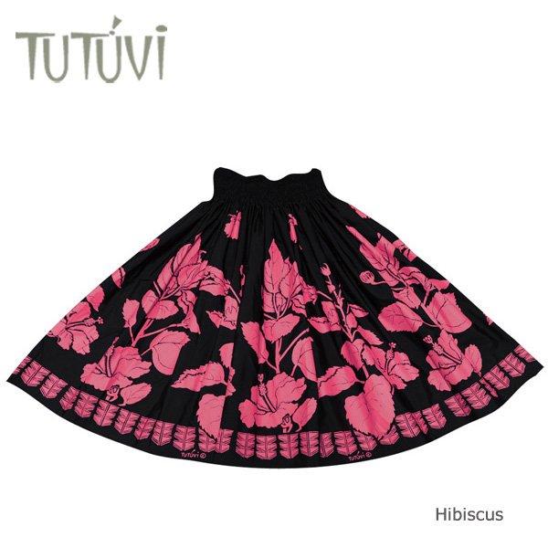 TUTUVIパウ(柄:ハイビスカス/色:ブラック・ローズレッド)【画像3】