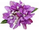 パープル(紫) ヘアクリップ CL-15アイランドチューブローズブロッサムクリップ パープル