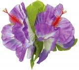 パープル(紫) E ハイビスカスダブルクリップ パープル