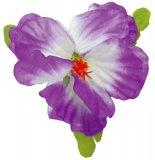 パープル(紫) E ハイビスカスシングルクリップ パープル