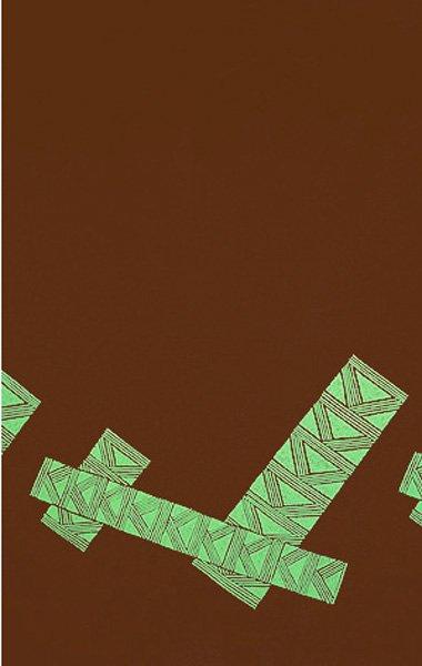 TUTUVIファブリック タパ#5 (色:ブラウン・グリーン)