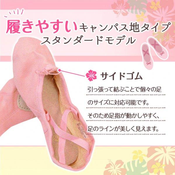 レッスンシューズ ニューファーン ブラック・グリーン【画像5】