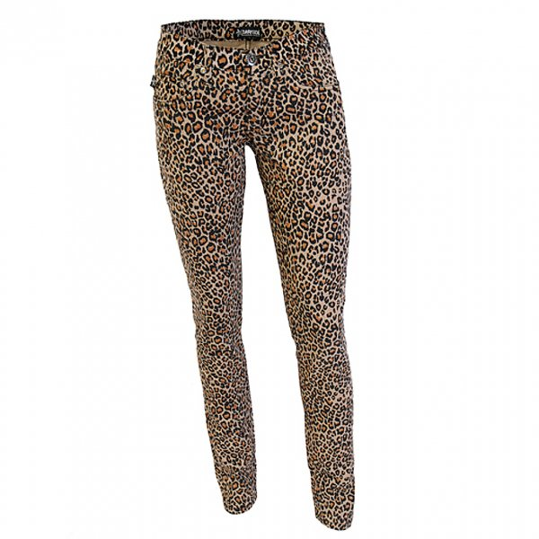 【DARKSIDE CLOTHING】Natural Leopard Print Low Rise Skinny Jeans