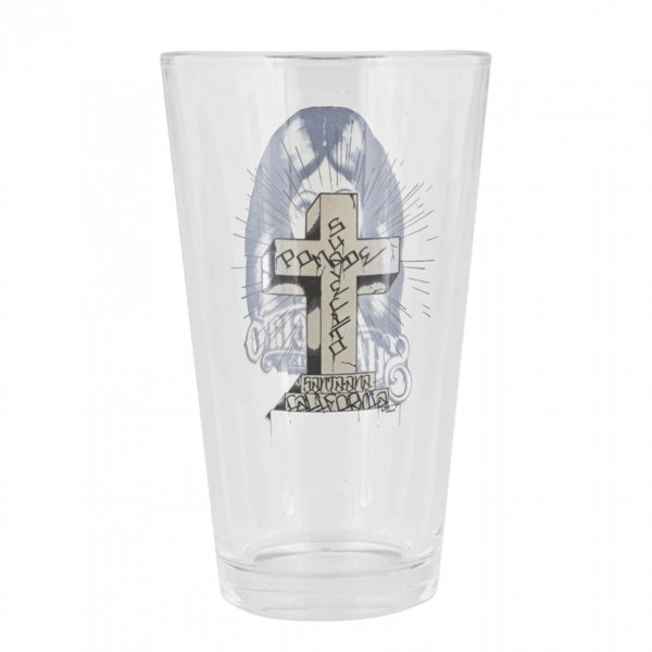 【Suavecito】Cross Pint Glass Back