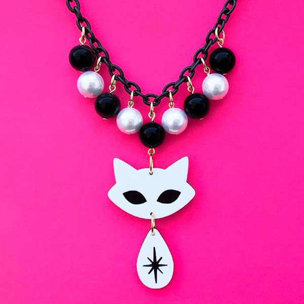 【CALL for DOLL】BURST CAT NECKLACE White c-cat002
