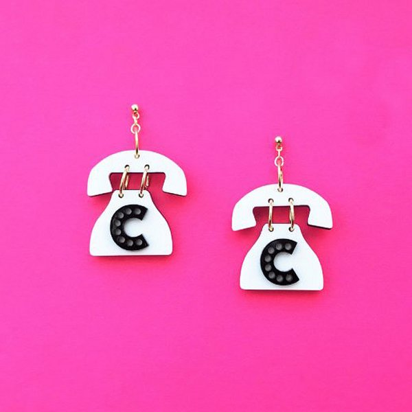【CALL for DOLL】CALL for TELLEPHONE Pierce White c-tel001