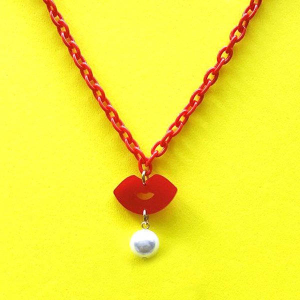 【CALL for DOLL】KISS KISS NECKLACE Red c-ki002