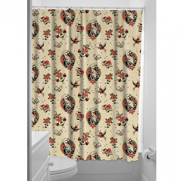 【SOURPUSS】LOST LOVE SHOWER CURTAIN