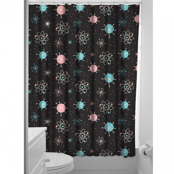 【SOURPUSS】SPUTNIK SHOWER CURTAIN